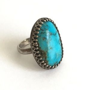Vintage Turquoise Native American Ring Size 2.5